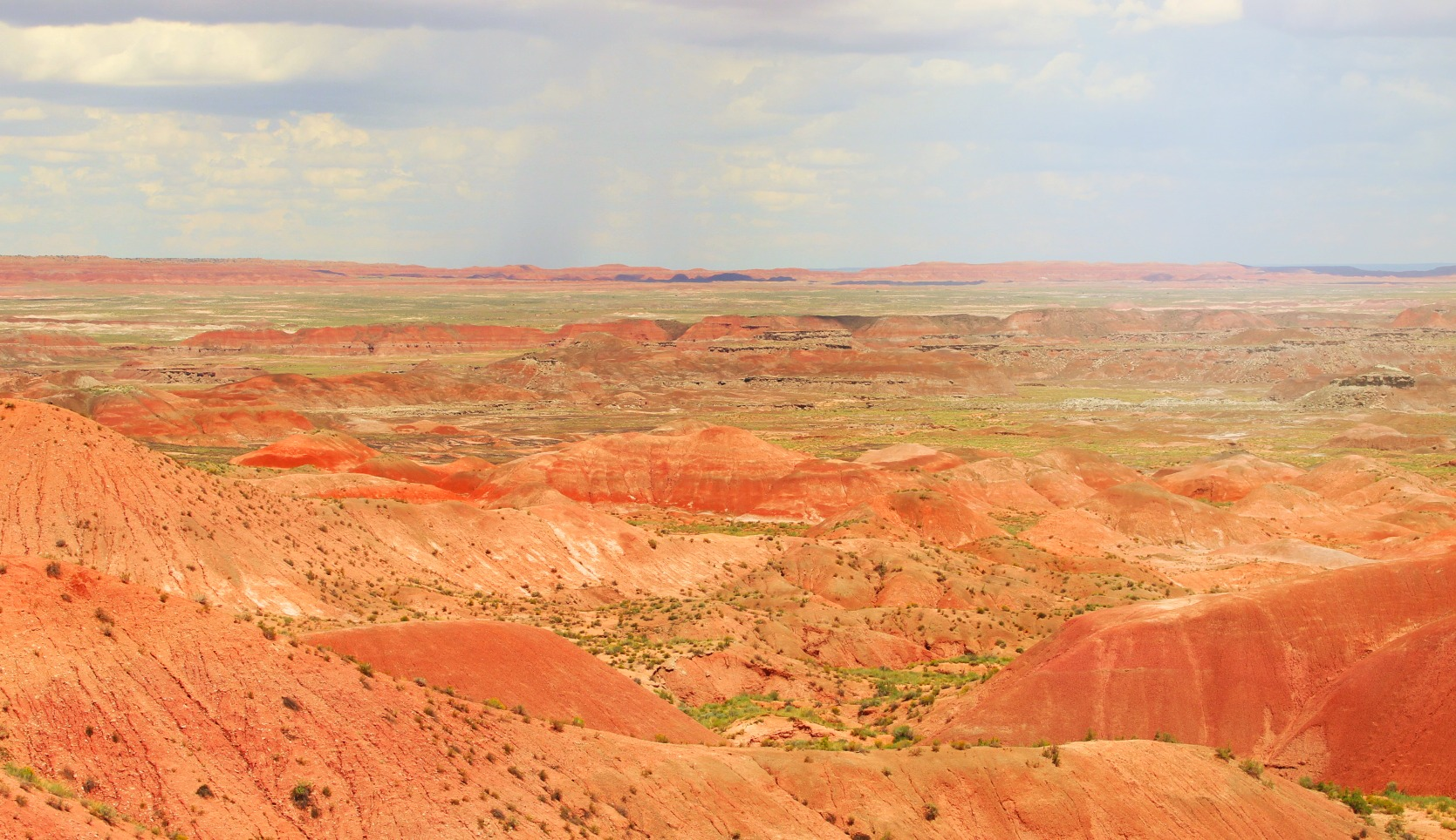 landscape view of the painted desert