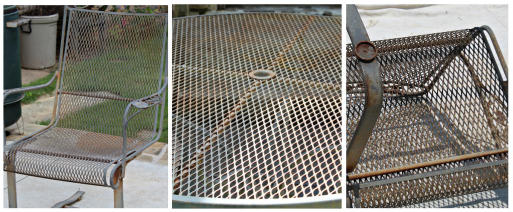 old worn patio furniture