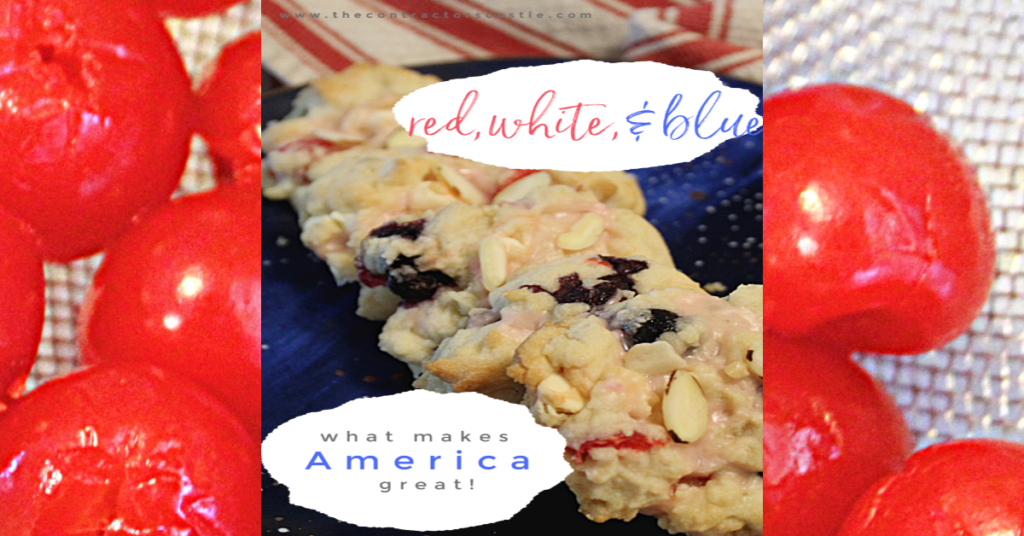 cherries red white blueberry cookies facebook