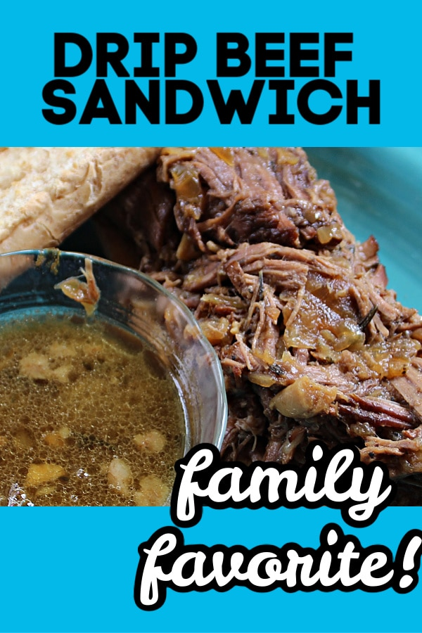 pinterest drip beef sandwich pin