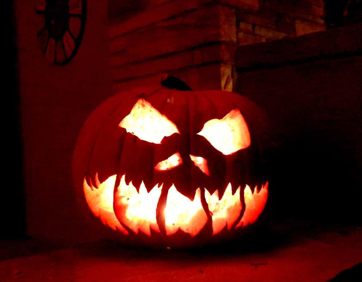 Halloween Jack-O-Lantern Composting