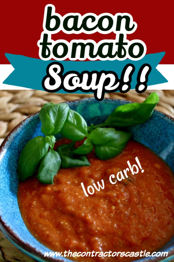pinterest pin for the bacon tomato soup