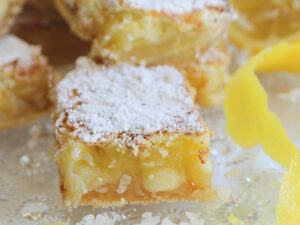 Crazy Good Lemon Bars with Coconut and White Chocolate