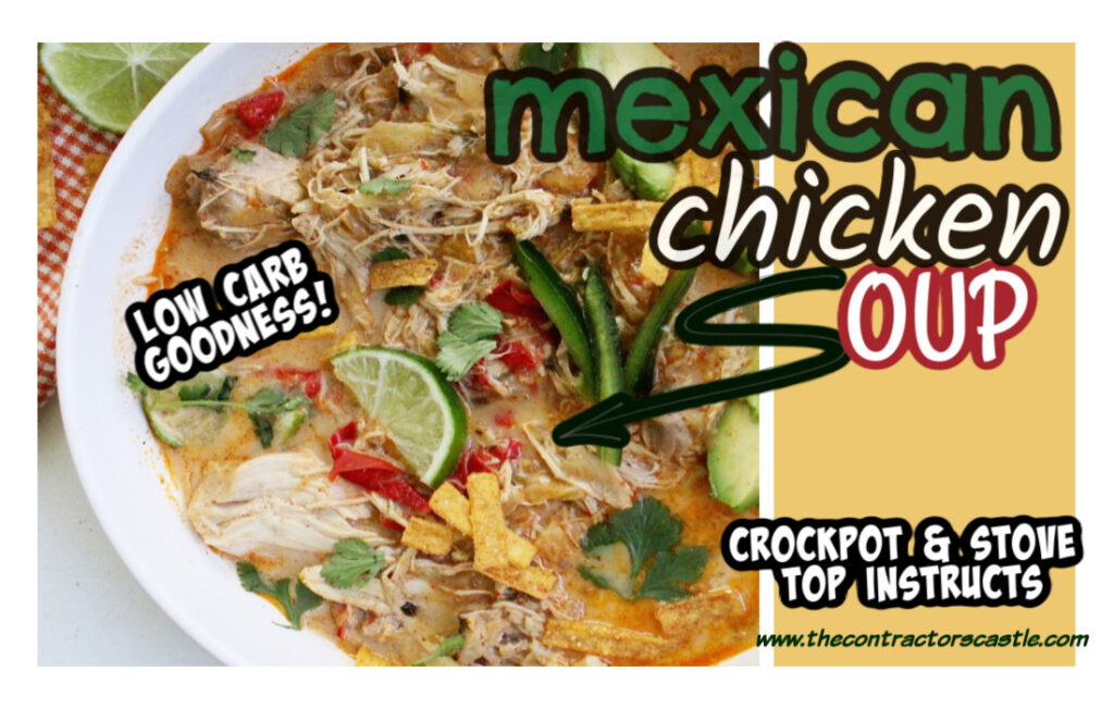 facebook mexican chicken soup low carb goodness
