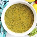 close up of cilantro dill vinaigrette marinade