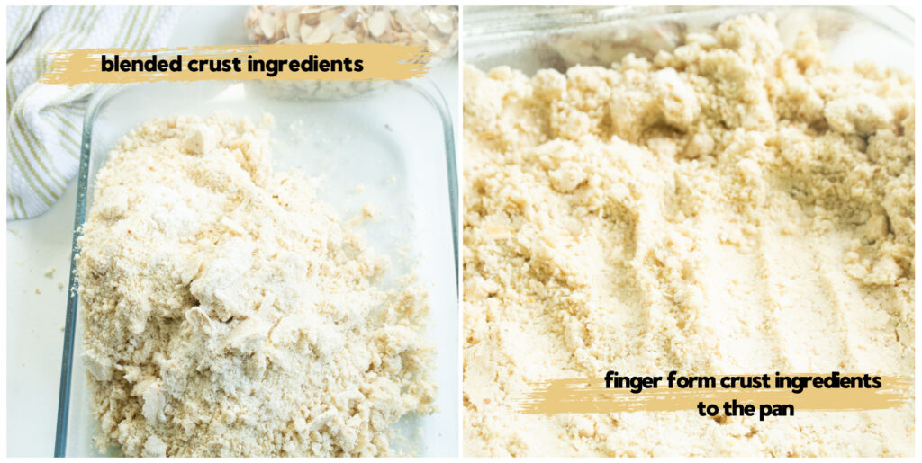 2 pic collage of crust mixture