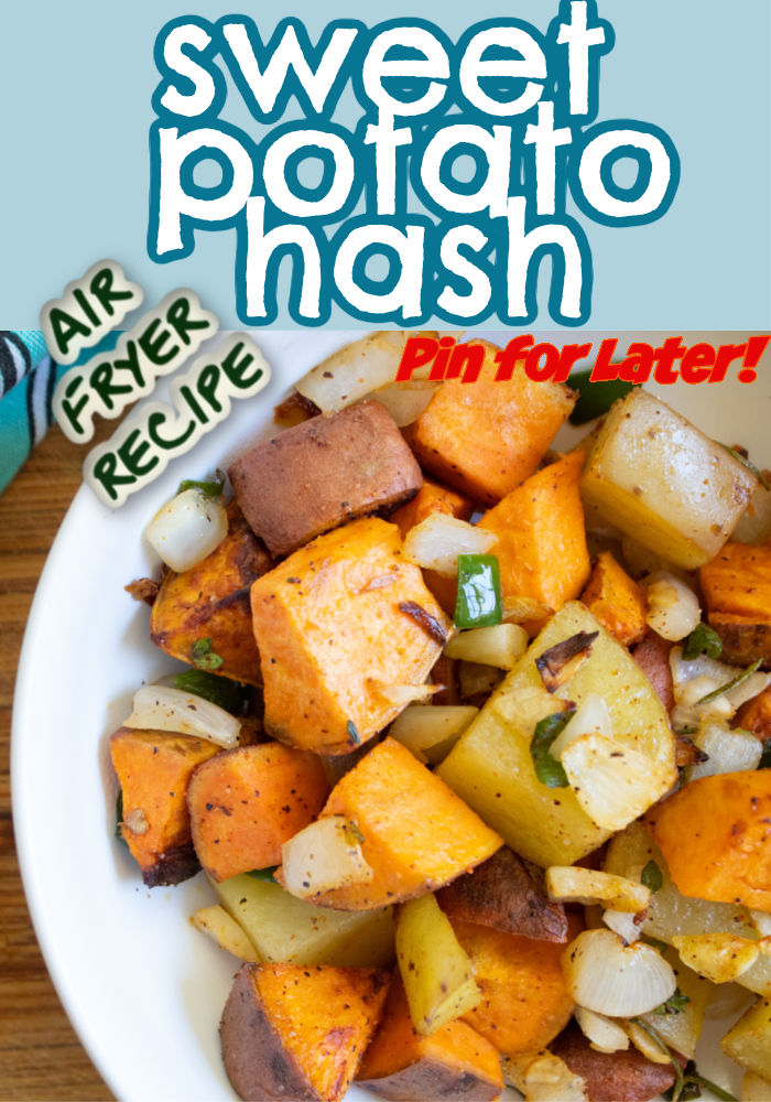 sweet potato hash pinterest pin