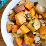 close up of the best sweet potato hash