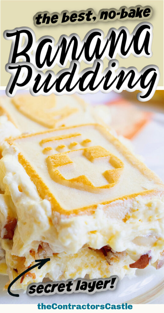 easy no bake banana pudding pin