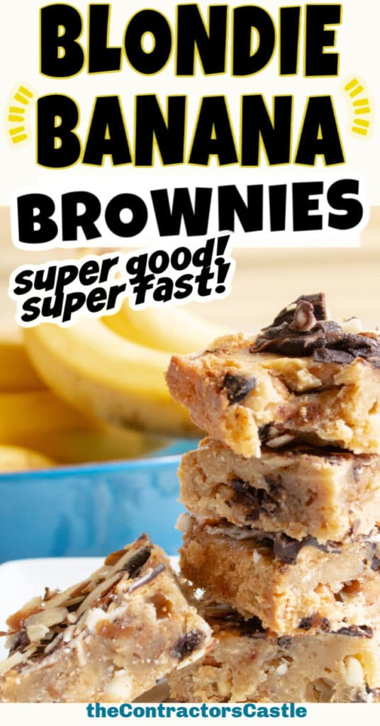Blondie Banana Brownies - Super Good! Super Fast!