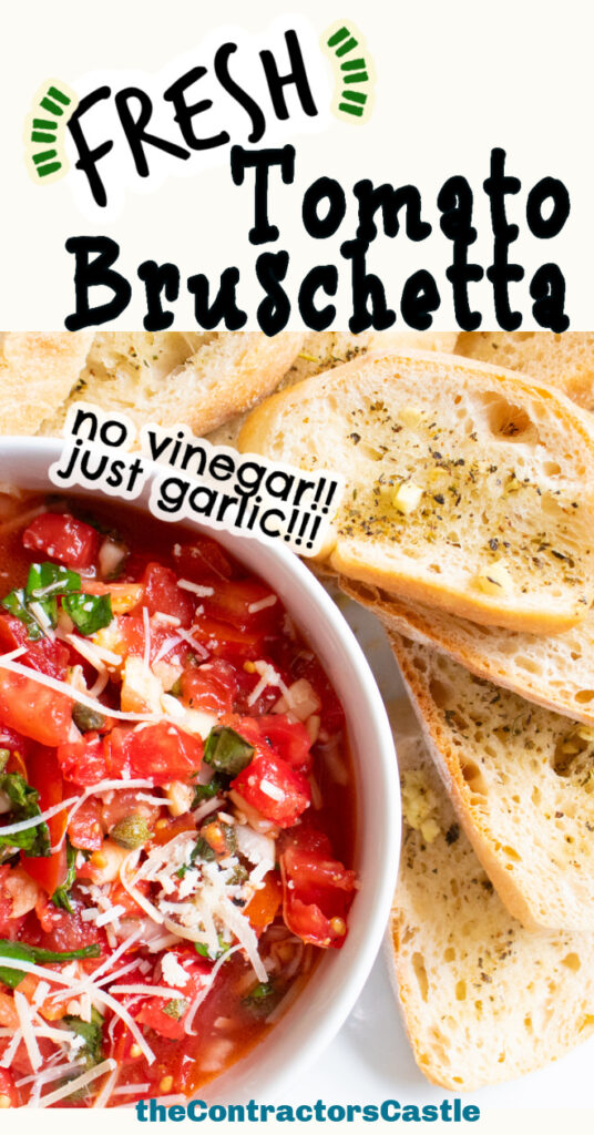 fresh tomato bruschetta pin