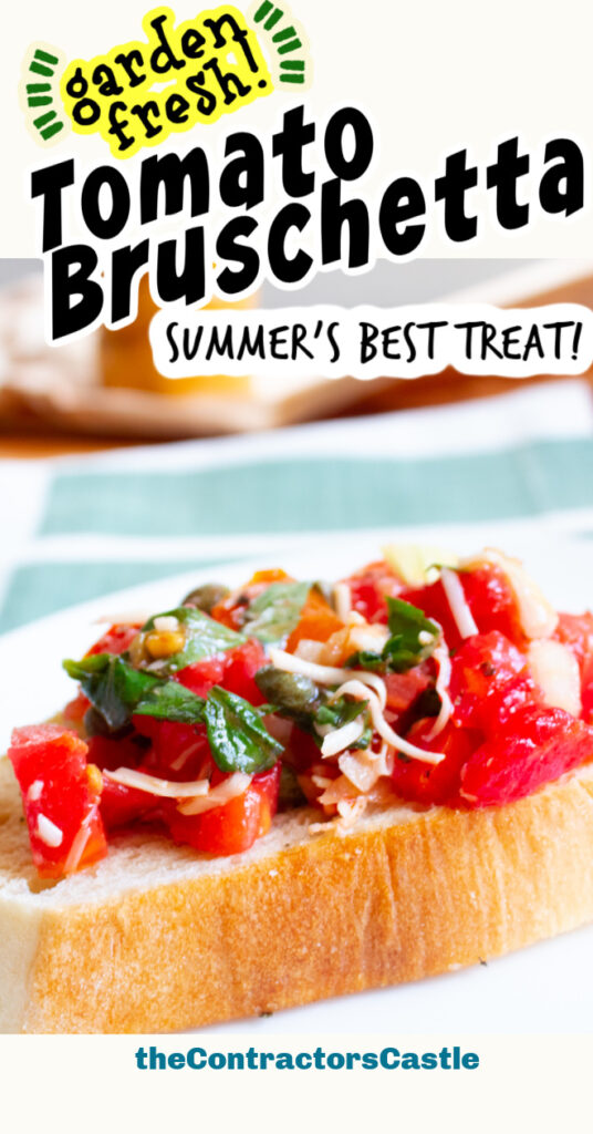 garden fresh tomato bruschetta pin