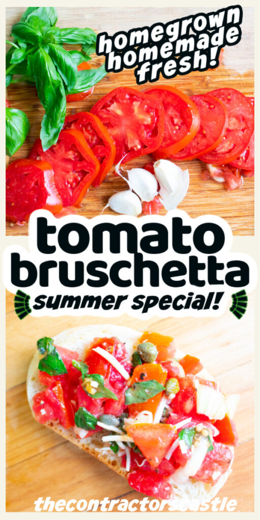 2 pic pin of tomato bruschetta