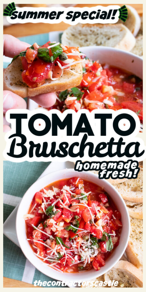 2 pic pin of bruschetta close up summer special