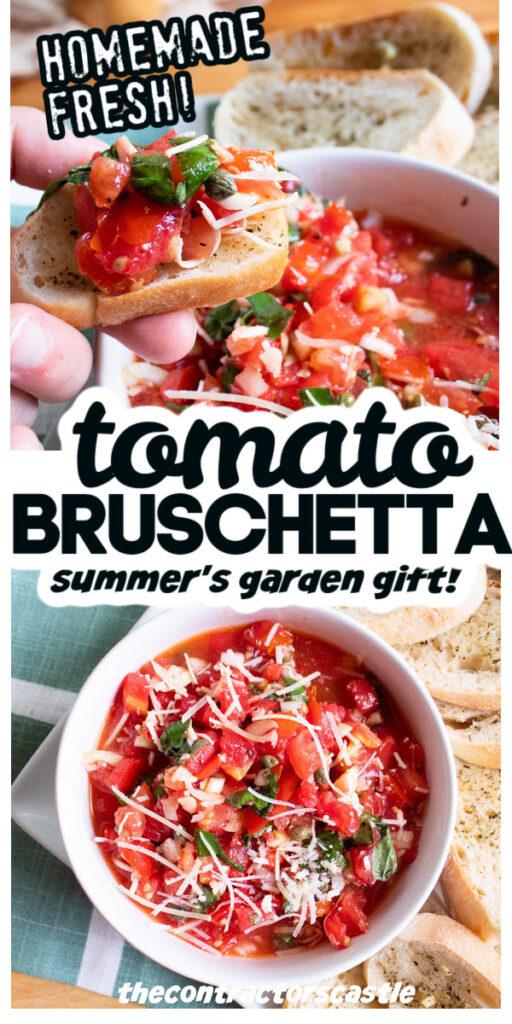 tomato bruschetta summers garden gift