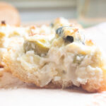close up of Artichoke Cheese Bread