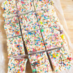 cut up rice krispie treats