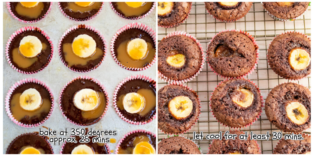 step 3 & 4 for brownie banana bites