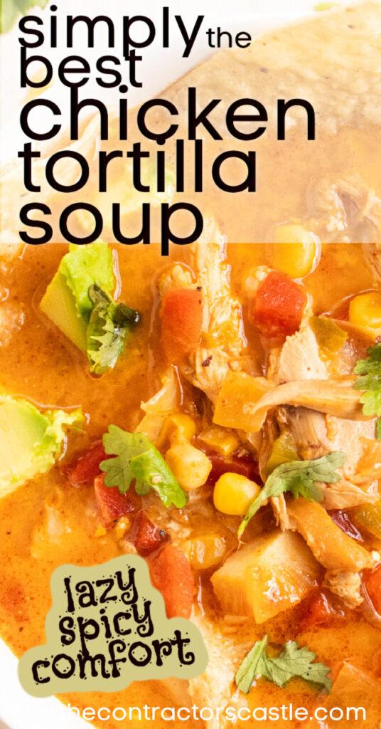 pinterest pin for chicken tortilla soup