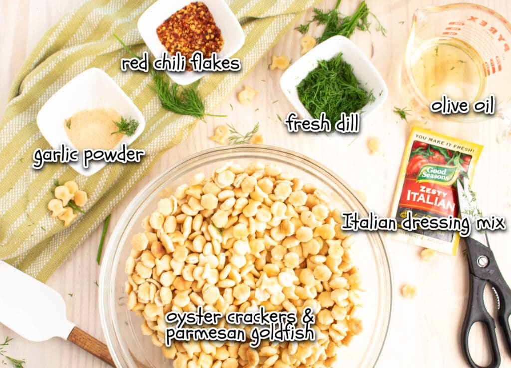 snack cracker ingredients with labels