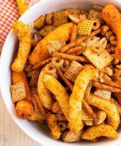 homemade cheetos chex mix recipe