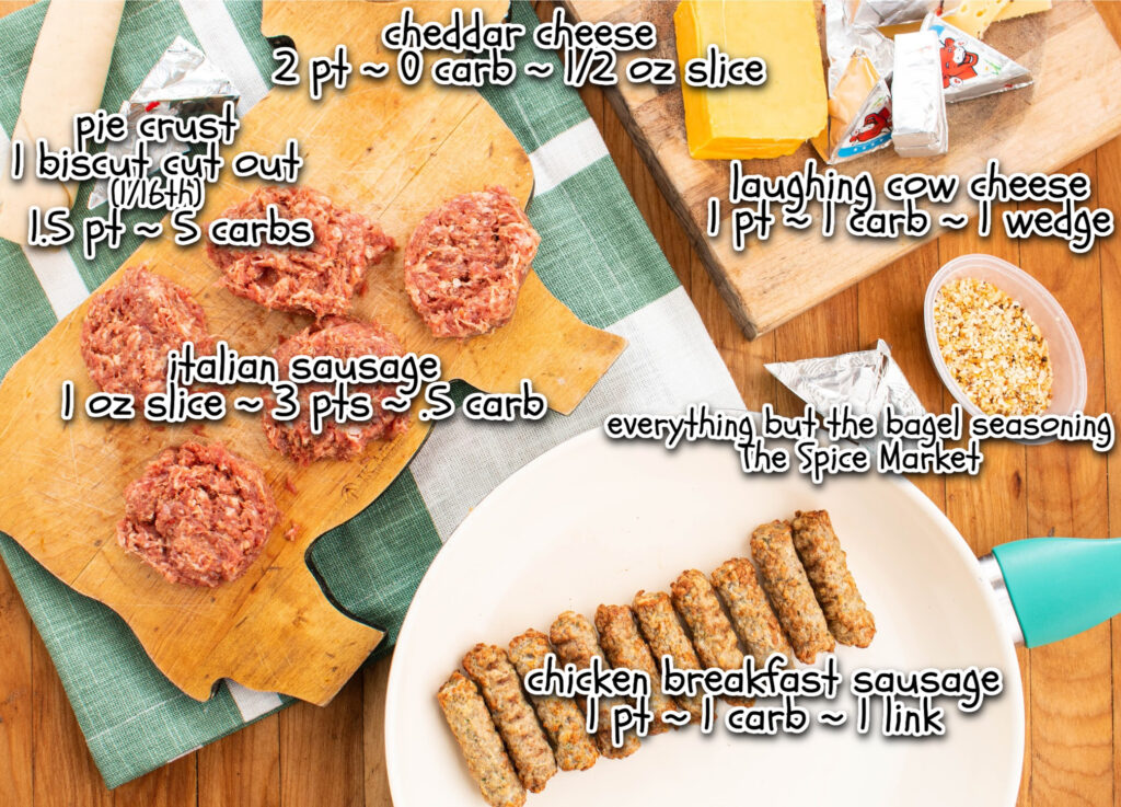 mini sausage rolls ingredients with labels